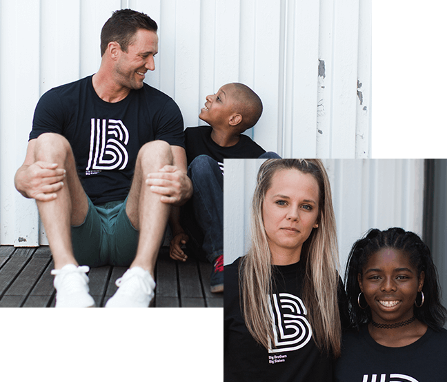 Bigs and Littles wearing BBBS t-shirts and smiling